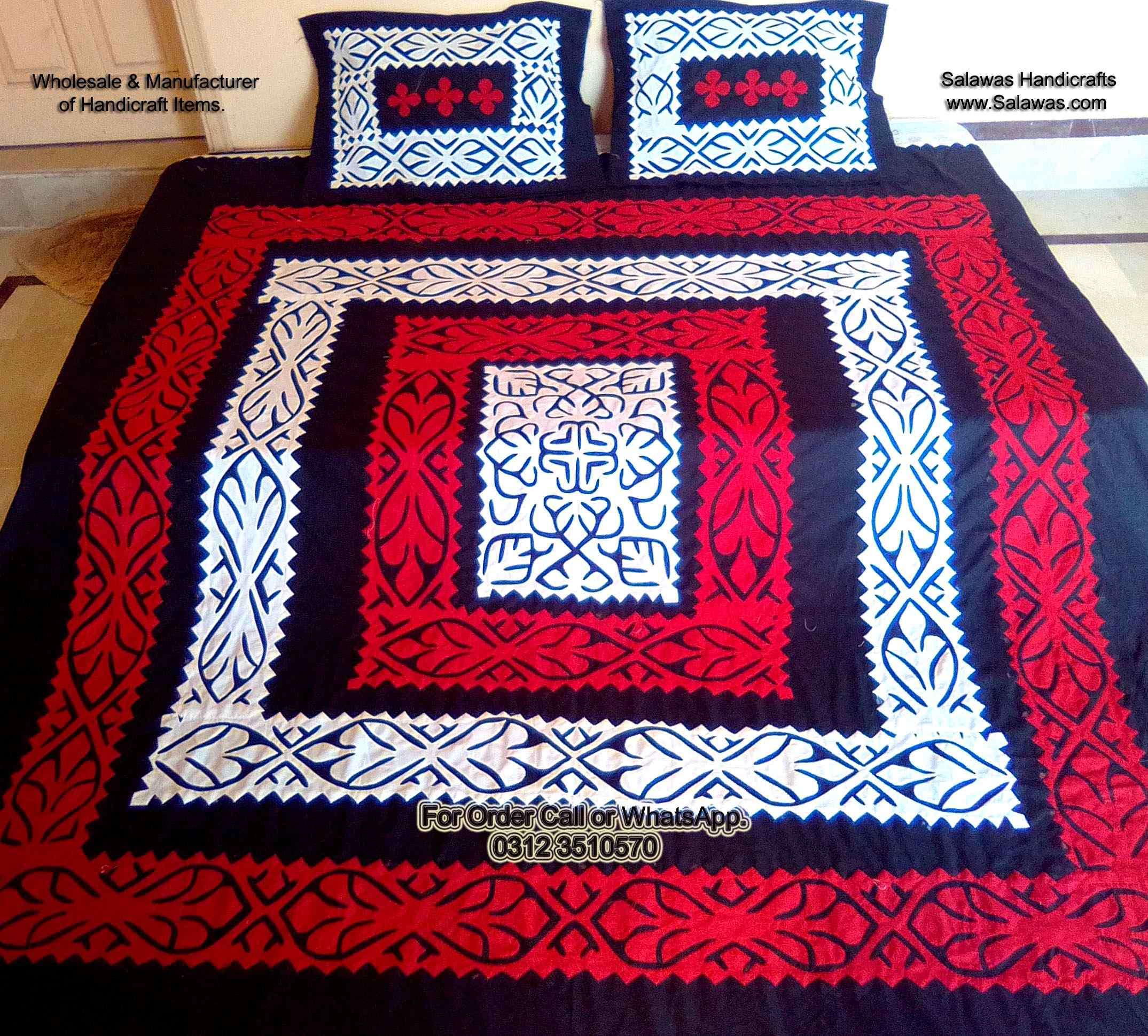 hand embroidery single bed sheets