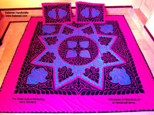 Applique Sindhi Bed Sheets