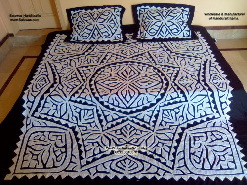 Applique Work Bed Sheet