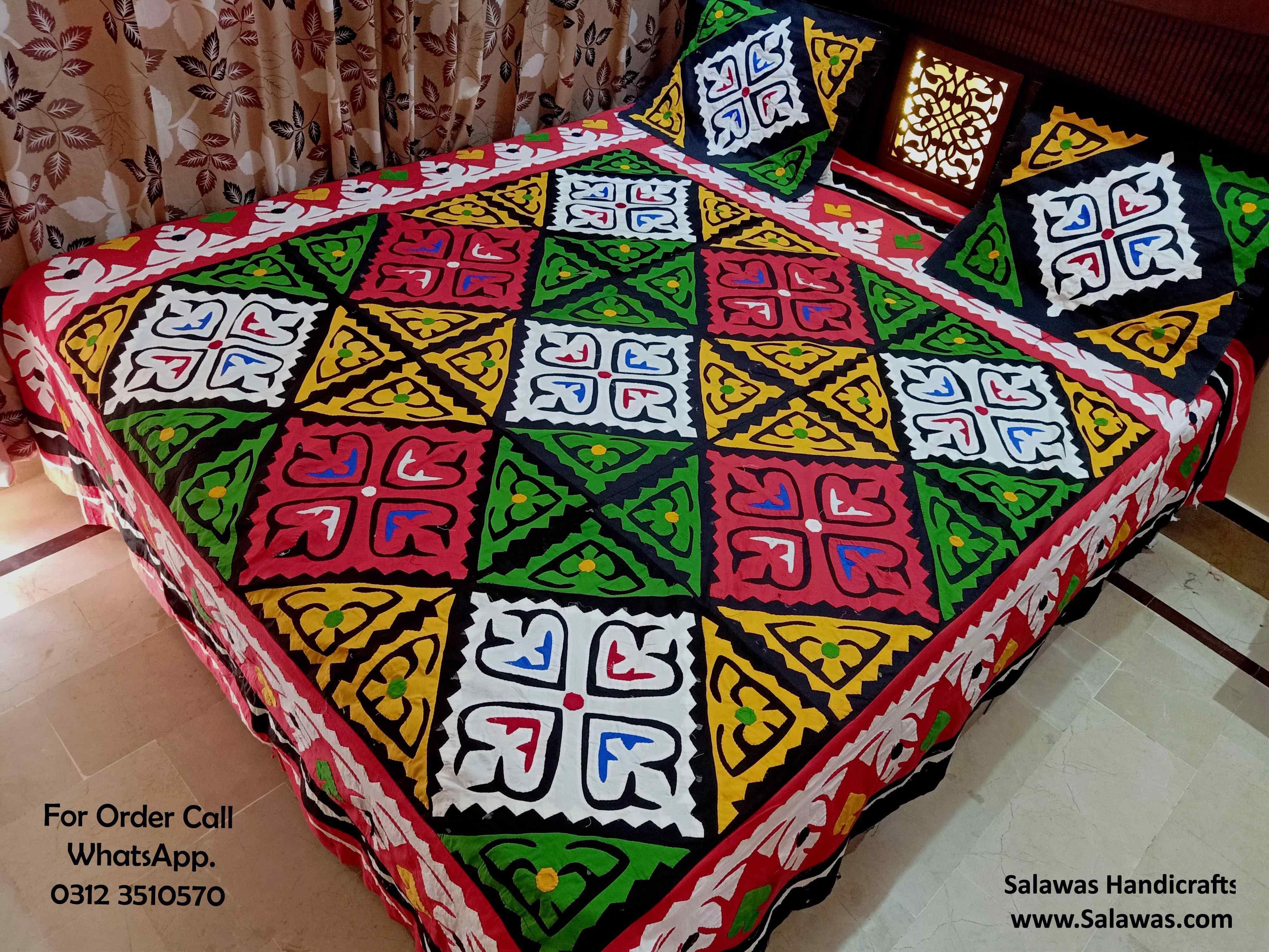 Ralli Style Sindhi Bed Sheet
